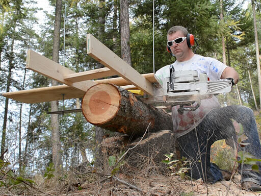 This image has an empty alt attribute; its file name is chainsaw-mill.jpg